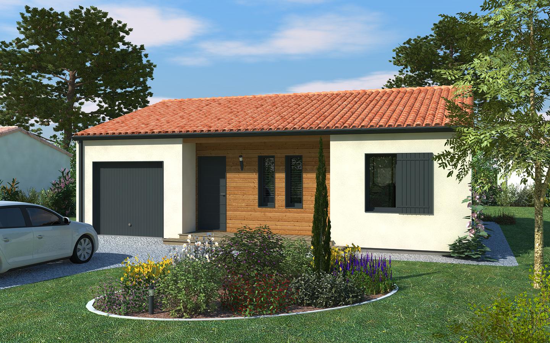 Maison mignaloux beauvoir 82m terrain 663m delrieu for Prix construction maison 3 chambres