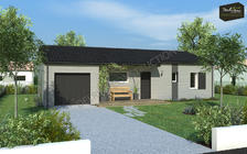 Maison en ossature bois Moabi 64 m² finition James Hardie