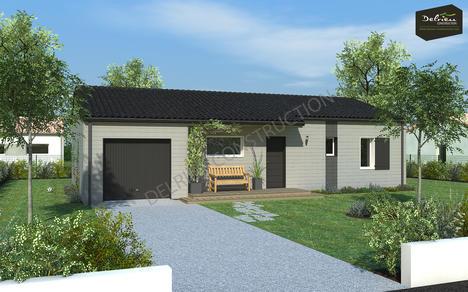 maison vendre vouzailles 88 m terrain 1500 m delrieu construction. Black Bedroom Furniture Sets. Home Design Ideas