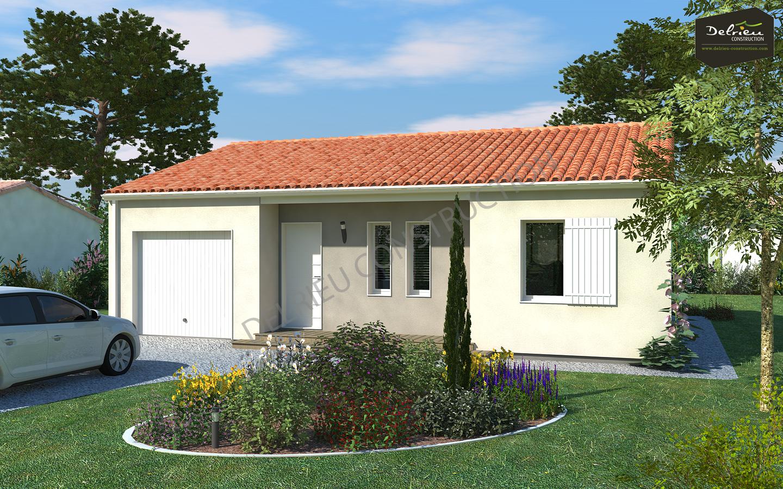 maison vendre bourgneuf 84m terrain 495 m delrieu construction. Black Bedroom Furniture Sets. Home Design Ideas