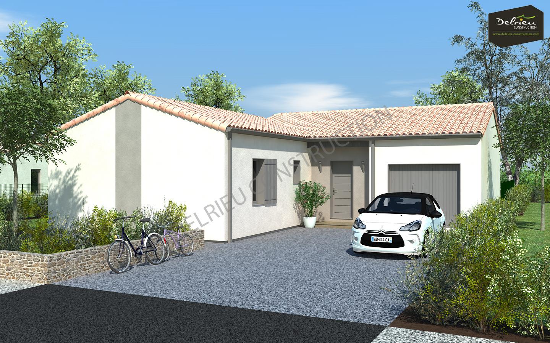 Maison vendre 86 m melle terrain 1088 m delrieu for Construction bois 86
