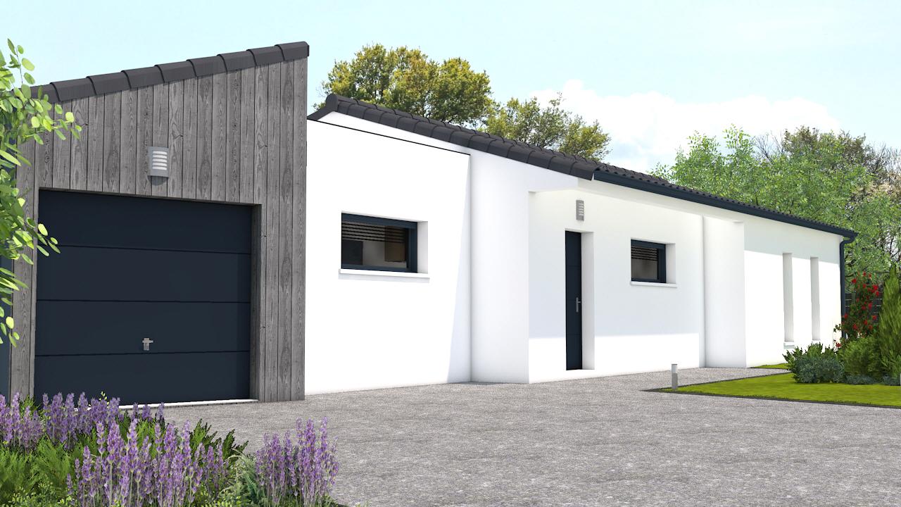 maison vendre saint rogatien 104m terrain 750m delrieu. Black Bedroom Furniture Sets. Home Design Ideas