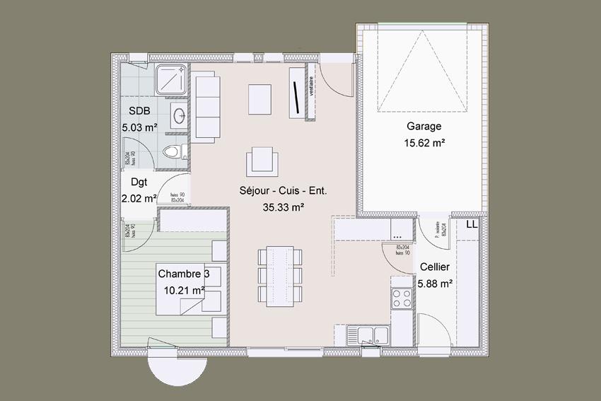 maison bois 4 chambres