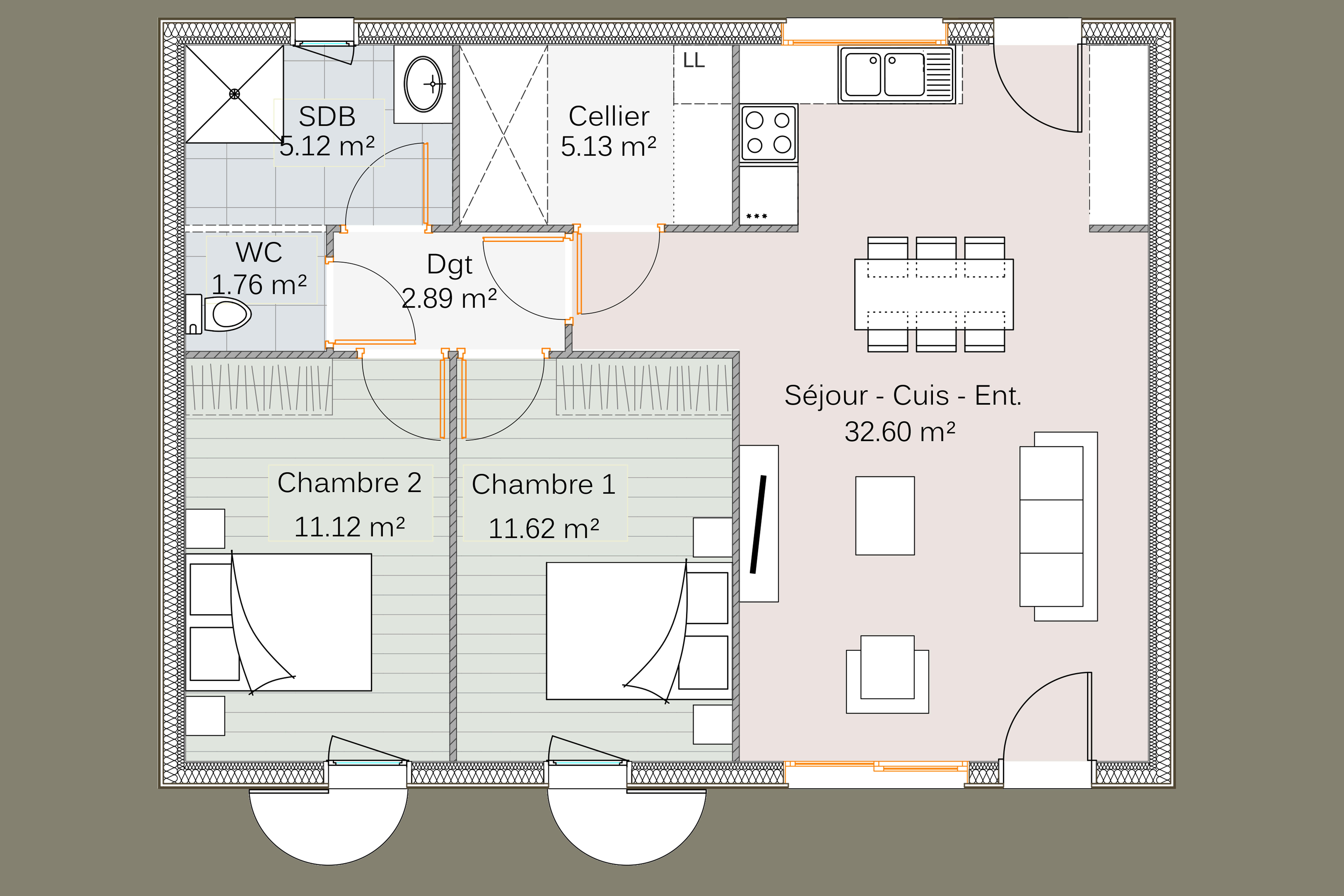 Maison bois 1 3 chambres life delrieu construction bois for Chambre 70 s