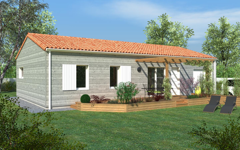 Maison peinte en gris - Maison en bois peinte ...
