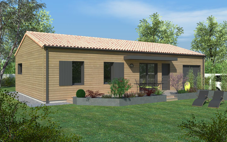 Maison bois 1 3 chambres life delrieu construction bois for Construction maison en bois orleans