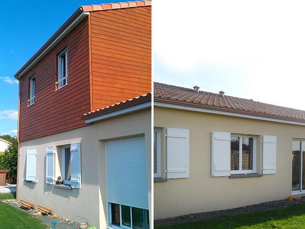 Sur l vation de maison delrieu construction bois - Surelevation bois maison ...