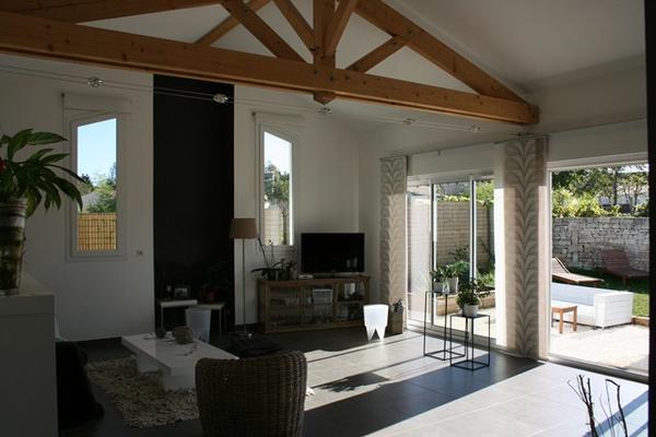 Interieur maison ossature bois for Maison bois interieur