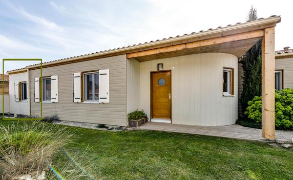 Extension de maison en bois prahecq delrieu for Agrandissement maison 59